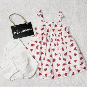 Baby GAP White Watermelon Printed Dress